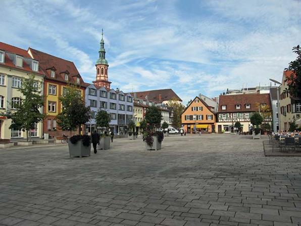 Marktplatz von Offenburg Baden