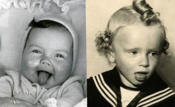 Rückblick: Ursula und Bernhard [Ursula 5 Monate, Bernhard 3 Jahre]