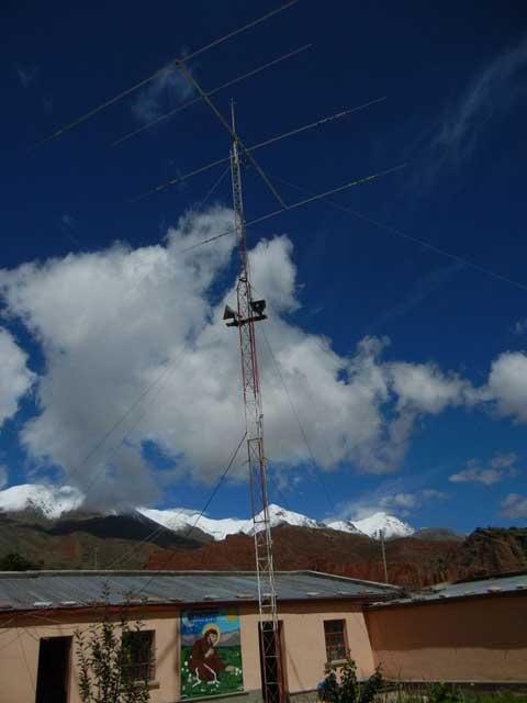 Kurzwellenantenne von CP4PG in Esmoraca Bolivien