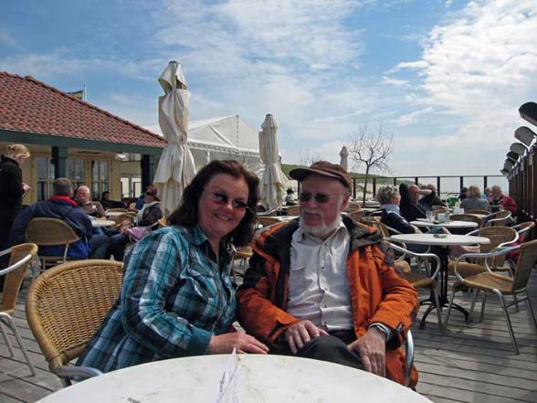 im Strandcafe von Hollum auf Ameland